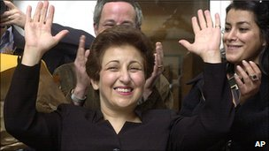 Iranian lawyer and activist Shirin Ebadi in Paris, file pic from October 2003