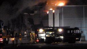 Fire at Crumbles Retail Park