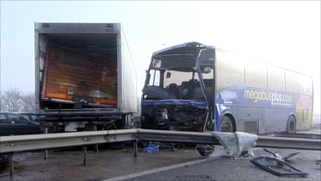Scene of M5 crash