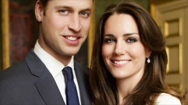 Prince William and Kate Middleton's engagment portrait