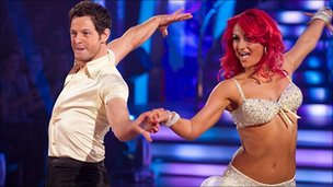 Matt Baker and Aliona Vilani perform on Strictly Come Dancing