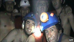 Picture of the miners underground on 17 September