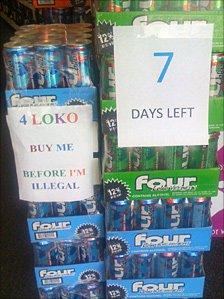 Cases of Four Loko at the Bridge Liquor store in Rhode Island