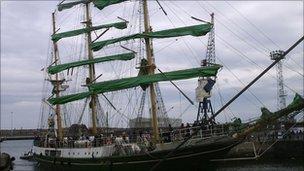 Tall Ship in Hartlepool