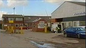 Deeside Metals, Saltney, Flintshire, where Mark Wright was killed in April, 2005