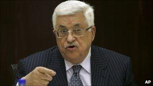 Palestinian President Mahmoud Abbas - 13 December 2010