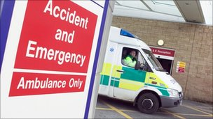 Ambulance at emergency department