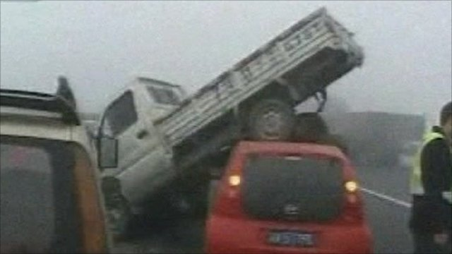 Pile-up in Sichuan