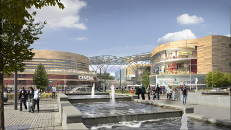 Artist's impression of how the square will look