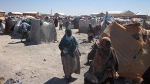 IDP camp in Gaalkacyo, northern Somalia