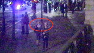 CCTV picture from the area where the assault took place