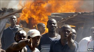 Clashes in the Mathare slum in Nairobi in January 2008