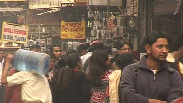 Busy street in Delhi