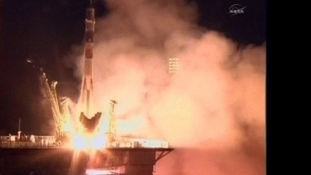 Soyuz flight blasts off from Kazakhstan