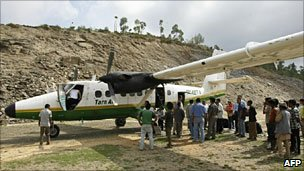 File photo of Tara Air Twin Otter aircraft at Lamidanda airport - 1 June 2010