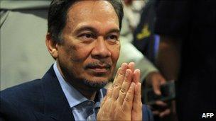 Anwar Ibrahim, pictured on 12 December 2010