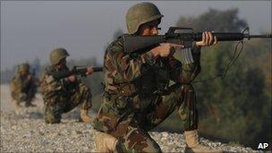 Afghan troops, file pic
