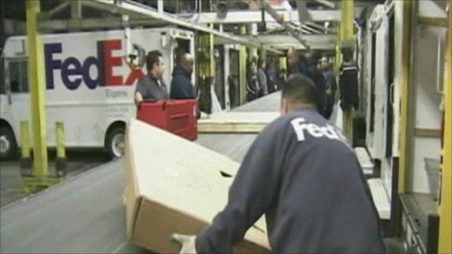 FedEx workers