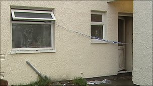 Two devices were thrown inside the house