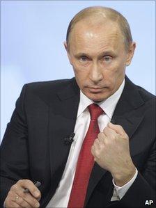 Vladimir Putin during phone-in