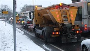 Suffolk County Council gritting truck