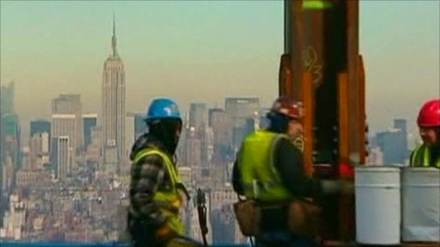 Workmen on 1 World Trade Center