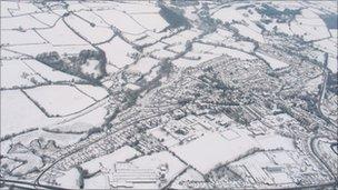 Braunton in snow