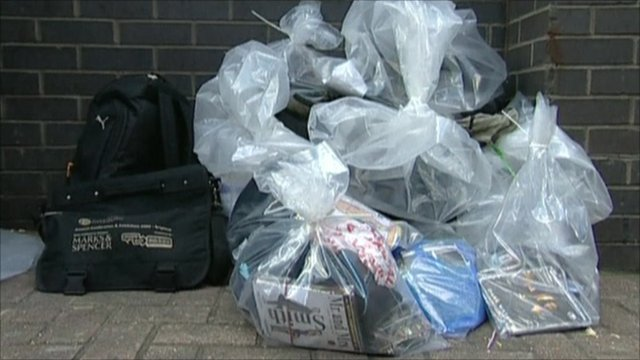Bagged counterfeit goods