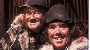 "Two Ronnies in ""yokel"" sketch"