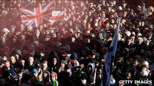English Defence League demo in Preston