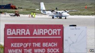 Aircraft at Barra Airport
