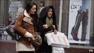 Shoppers on Buchanan Street in Glasgow on Saturday, 18 December
