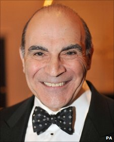 David Suchet arriving for the London Evening Standard Theatre Awards