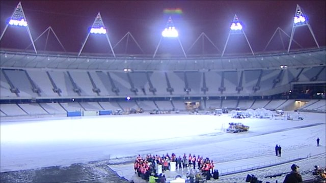 Floodlights switched on at the east London stadium