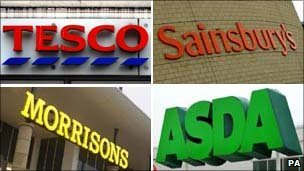 'Big four' supermarket signs