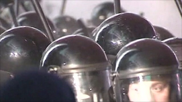 Riot police in Belarus