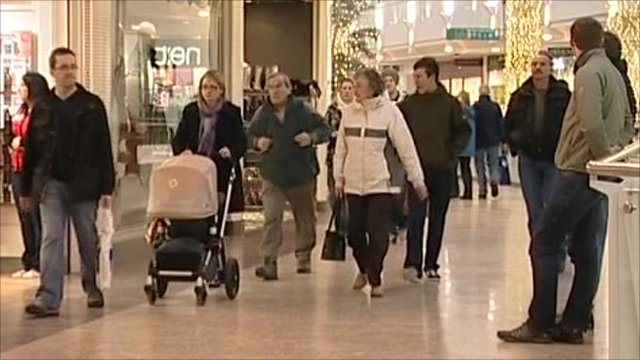Christmas shoppers in the south west of England