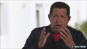 President Chavez speaking during his weekly TV broadcast on 19 December 2010