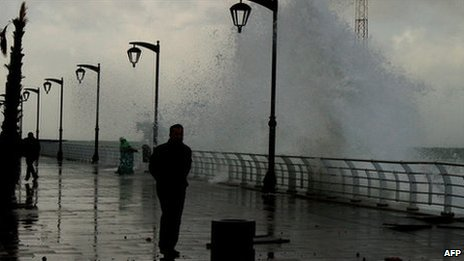 Storm on Beirut seafront - 11 December 2010