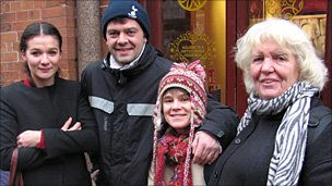 From left: Charlotte Macke, Olivier and Gaelle Glain and Tina McFarlane