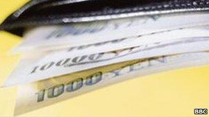 Wallet full of Yen