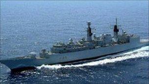 HMS Cumberland: Pic Royal Navy