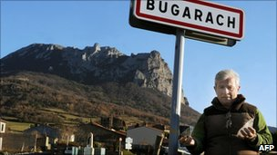 The mayor of Bugarach, Jean-Pierre Delord, poses in Bugarach, December 2010
