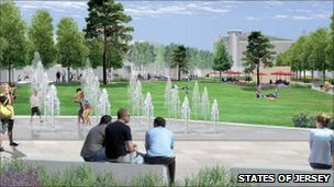 Artist's impression of Millennium Town Park