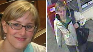 Composite image showing image of Ms Yeates and CCTV from Waitrose