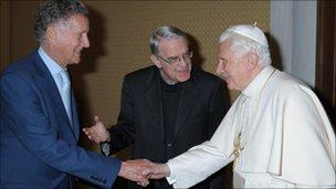 The BBC's David Willey meets Pope Benedict XVI