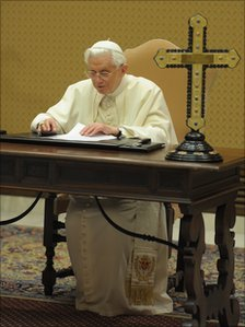 Pope Benedict XVI records his Thought For The Day