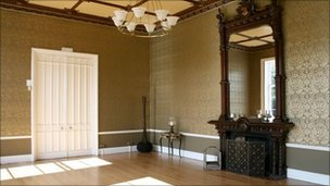 One of the rooms at the Mansion House in Nonsuch Park that was used for filming