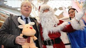 Boris Johnson at Westfield Shopping Centre