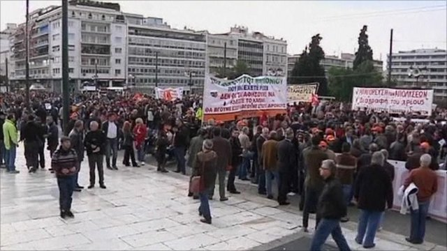 Despite demonstrations, Greece's austerity budget was approved